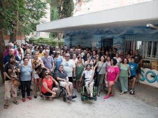 La Asociación de Vecinos de Manoteras en el local que ocupan