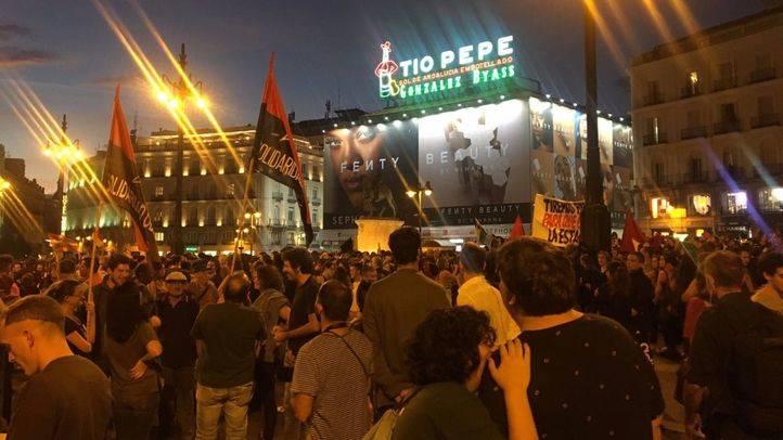Manifestación del 1-O convocada en la Puerta del Sol bajo el lema 'Madrid está con el pueblo catalán'