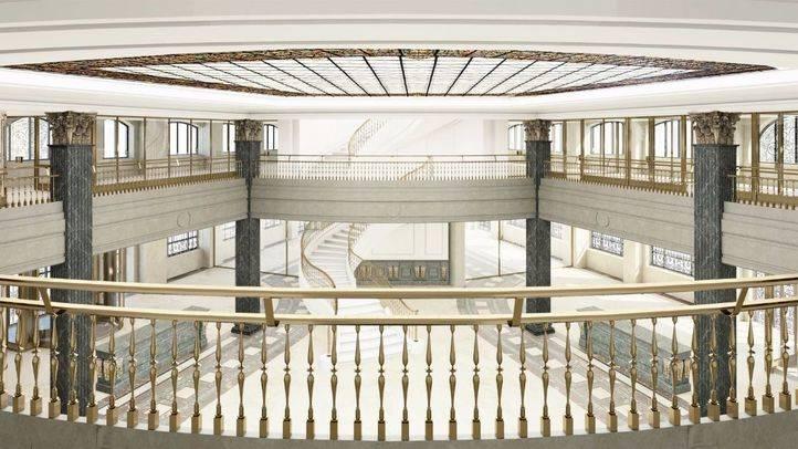 Así quedará el lobby de la primera planta del Hotel Four Seasons.