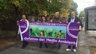 Manifestación en Villaviciosa de Odón contra los vertidos en el río Guadarrama