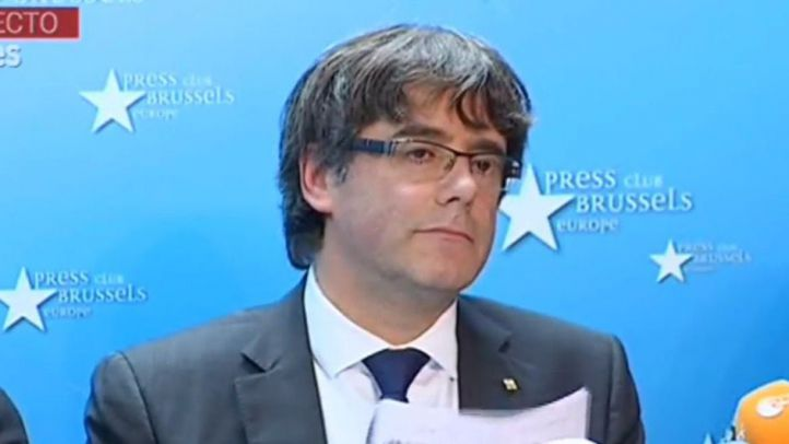 Puidemont y los exconsellers, detenidos en la Fiscalía belga