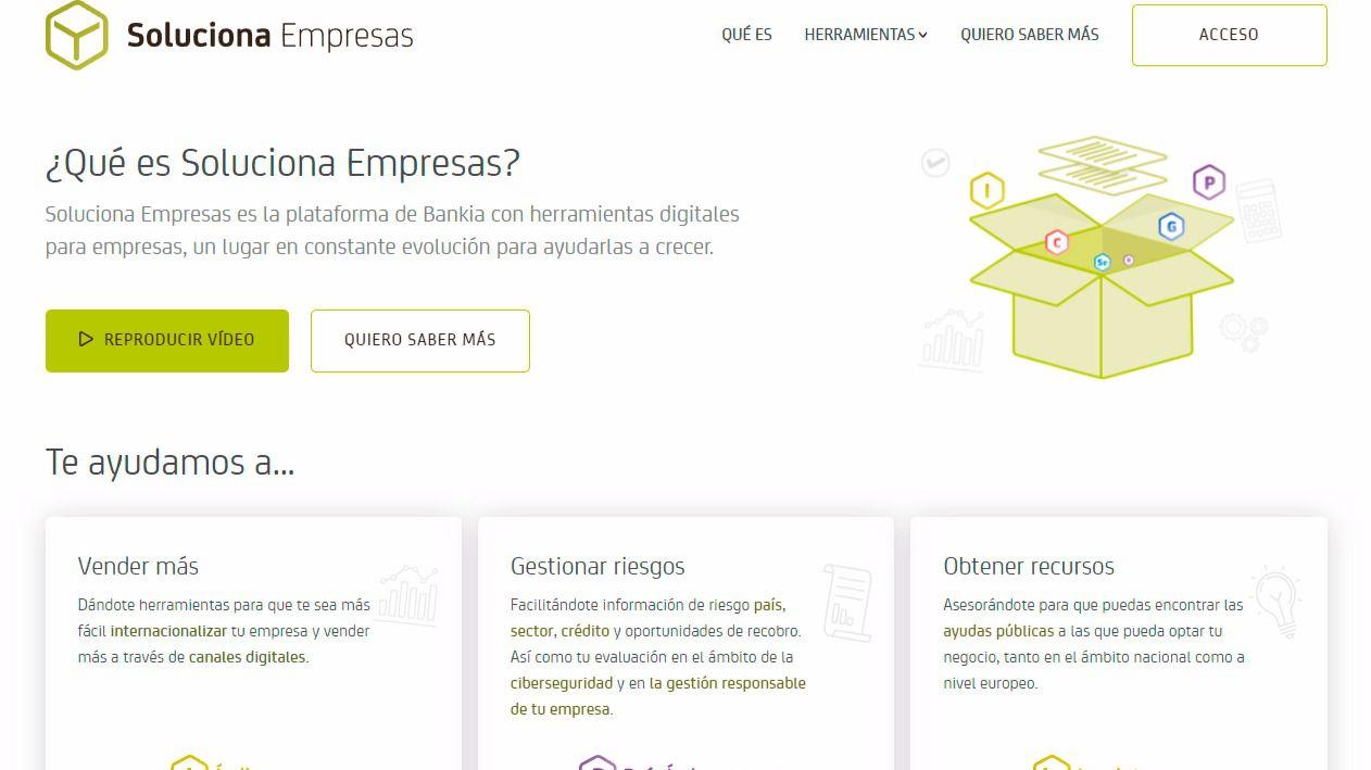 Bankia lanza 39 soluciona empresas 39 una plataforma digital for Bankia oficina de empresas