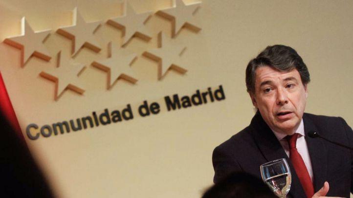 Ignacio González durante la rueda de prensa para desmentir lo puplicado por El Mundo.
