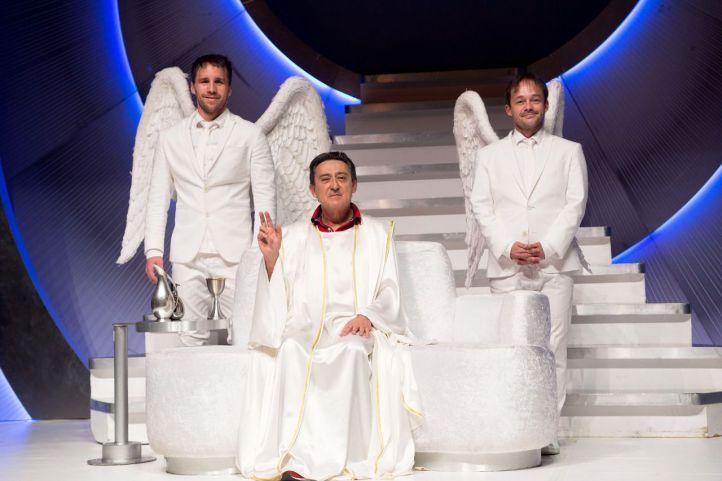 Mariano Peña, Bernabé Fernández y Chema Rodríguez en 'Obra de Dios'.