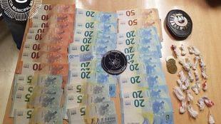 Material incautado a los dos detenidos en Arganzuela