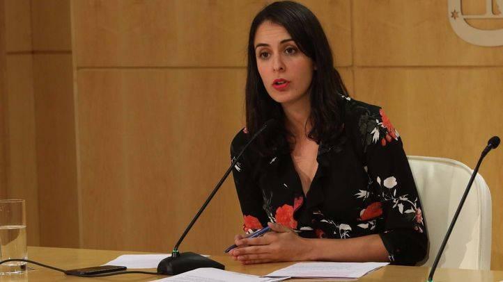 Rita Maestre en la rueda de prensa posterior a la Junta de Gobierno.