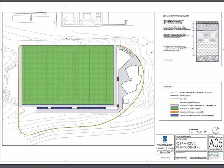 El parque forestal de Entrevías tendrá campo de rugby