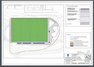 Plano del futuro campo de rugby