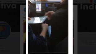 Un taxista se graba esnifando cocaína mientras conduce