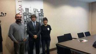 La CUP se reúne con Puigdemont y sus ex consellers