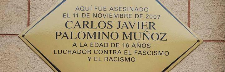 Manifestación en recuerdo de Carlos Palomino