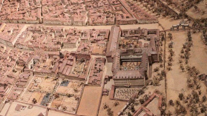 Maqueta de Madrid de 1830 realizada por León gil de palacio y ubicada en el museo de Historia de Madrid.
