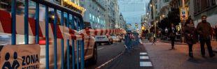El tráfico de Gran Vía, limitado a dos carriles desde diciembre