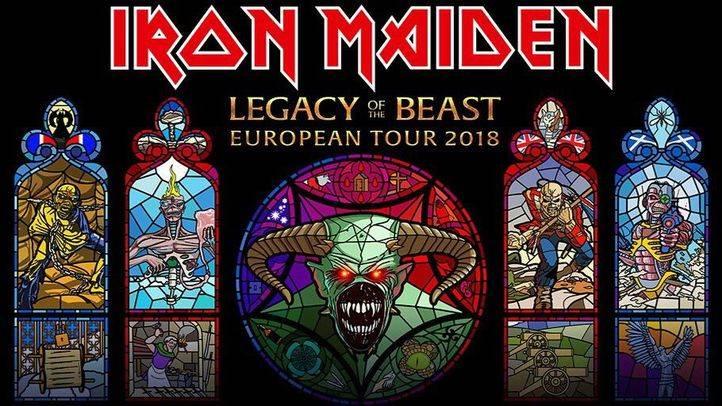 Cartel de la gira Legacy of the Beast European Tour 2018 de Iron Maiden