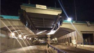 Puente en la avenida del Mediterráneo.