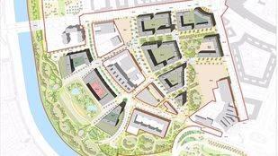 Plano del proyecto para el nuevo ámbito Mahou-Calderón.