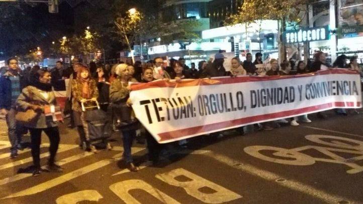 Manifestación de los vecinos de Tetuán.