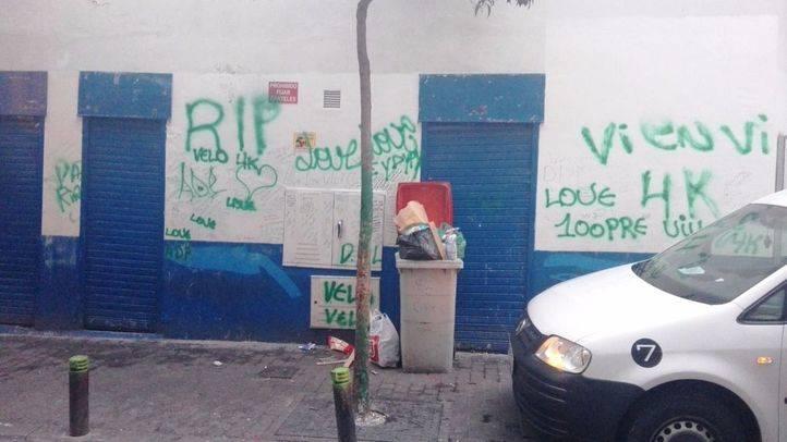 Pintadas verdes asociadas a trinitarios, en Bellas Vistas.