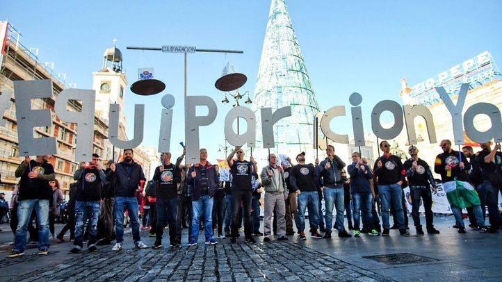Manifestación de Policías y Guardia Civil para reclamar una equiparación salarial