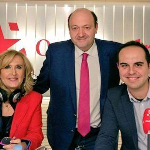 Nieves Herrero, Constantino Mediavilla y José Manuel Calvo.