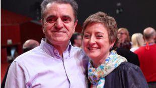 Carmen Barahona, secretaria de Organización, con José Manuel Franco