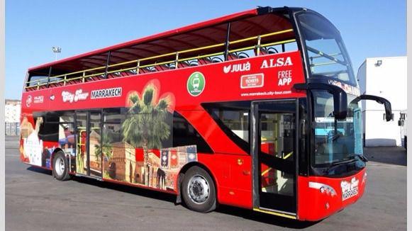 ALSA y Julià inauguran el bus turístico de Marrakech
