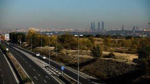 Boina de contaminación de Madrid vista desde Pozuelo de Alarcón.
