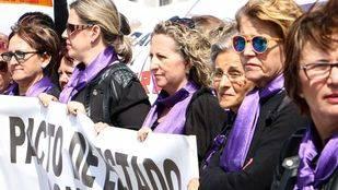 Concentración en Sol contra la violencia de género.