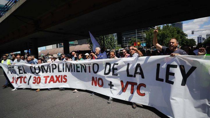 Manifestación del sector del taxi contra los VTC (Archivo)