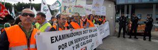 Manifestación de los examinadores de tráfico (Archivo)