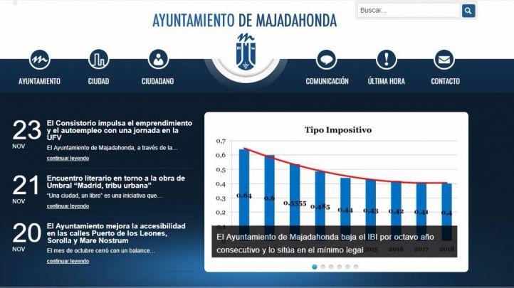 La web del Ayuntamiento de Majadahonda, hackeada