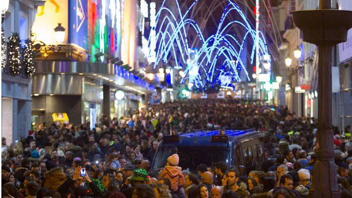 La calle Preciados, atestada durante las pasadas Navidades.
