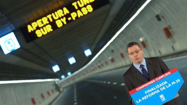 Ruiz-Gallardón, en la inauguración de los túneles