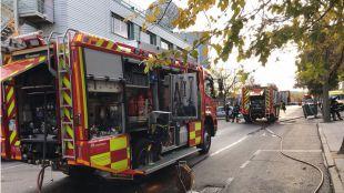 Arde un bloque de oficinas en 'Sanse'
