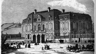 Grabado del palacio de Medinaceli, en Colón.
