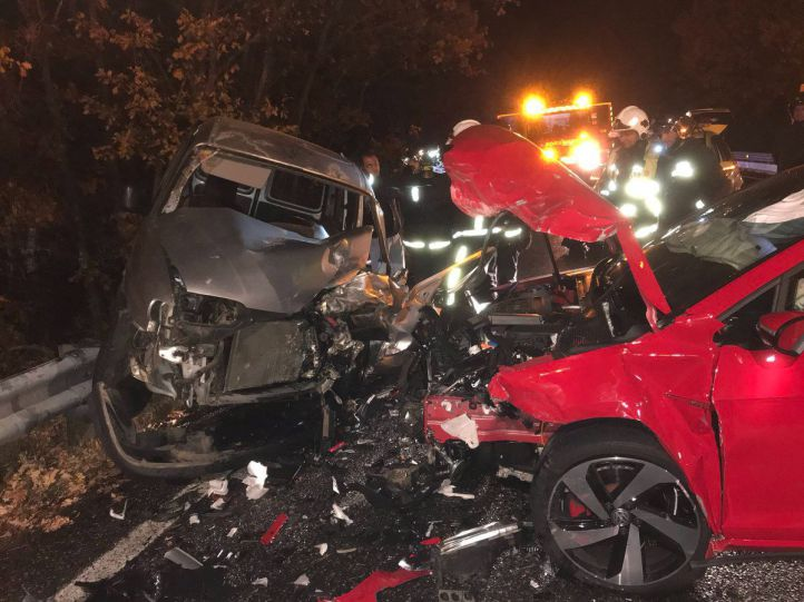 Cuatro heridos en una colisión en Cercedilla