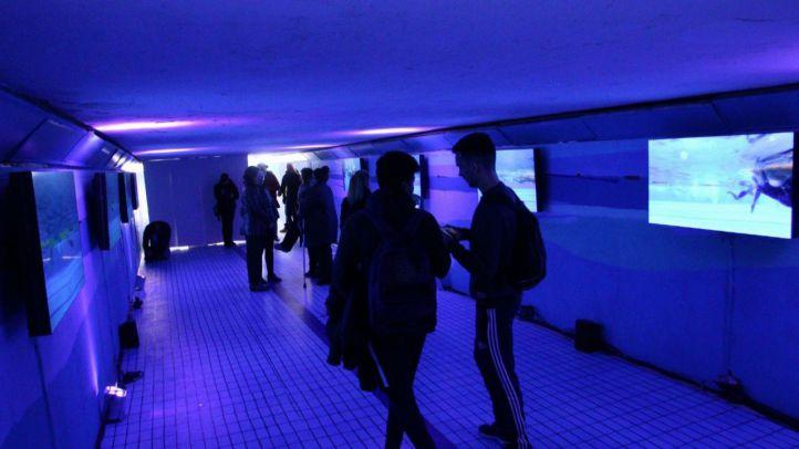 Agua, obra del 'Callejero libre de violencia de género' de Madrid