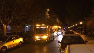 Seis hospitalizados por un incendio en Alcorcón