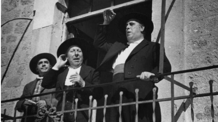 El actor Pepe Isbert en un fotograma de la película de Berlanga, 'Bienvenido Mister Marshall'.