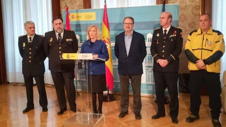 Presentación del dispositivo de seguridad navideño en la Delegación del Gobierno en Madrid
