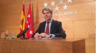 Garrido, este martes tras el Consejo de Gobierno