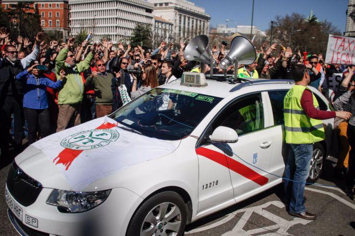 Los taxistas vuelven a la carga: pararán Madrid este miércoles