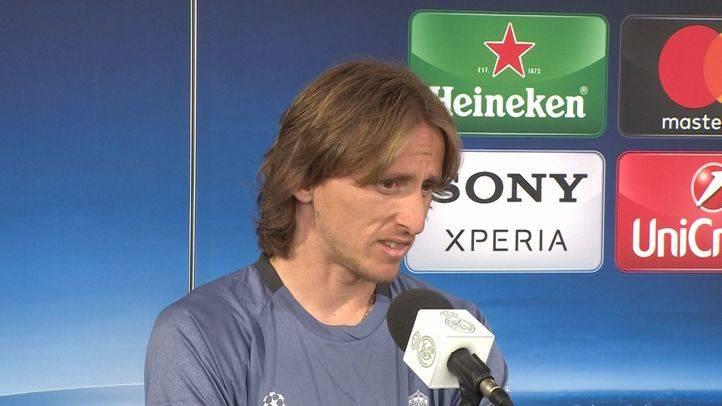 Luka Modric, tras un partido de la Champions.