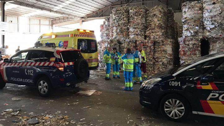 Fallece un trabajador de la planta de reciclaje de Alcorcón tras ser atropellado