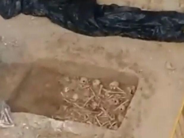 Huesos encontrados en la calle Atocha.