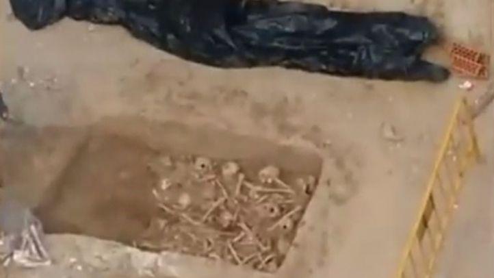 Hallan 90 cráneos y varios huesos humanos en unas obras