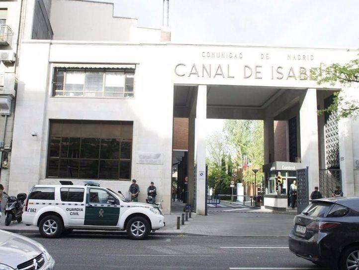 Operación de la Guardia Civil contra la corrupción relacionada con la gestión del Canal de Isabel II (Archivo)