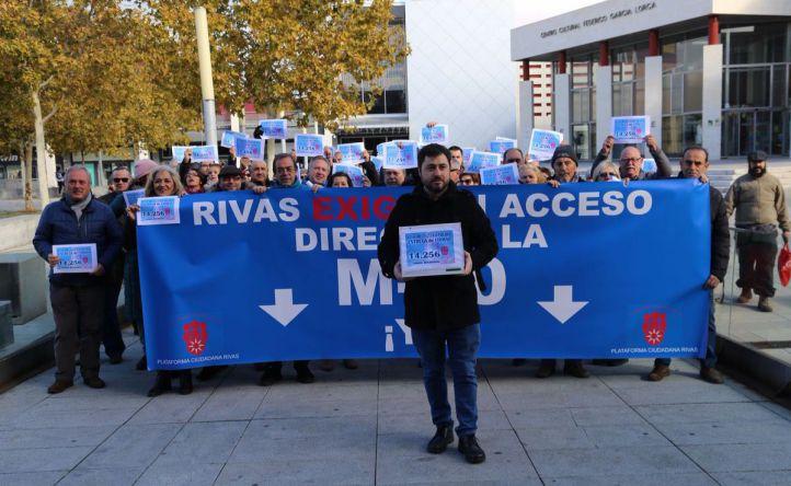 Más de 14.000 firmas por un enlace directo de Rivas con la M-50