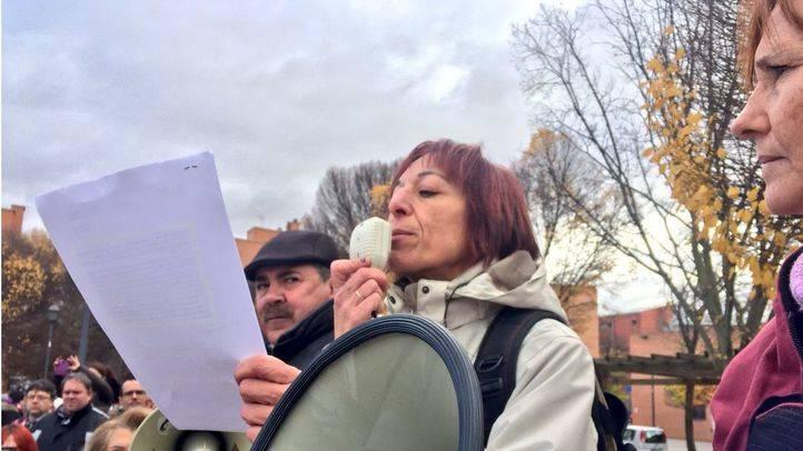 Manifestación contra el cierre de la Residencia San José en Usera