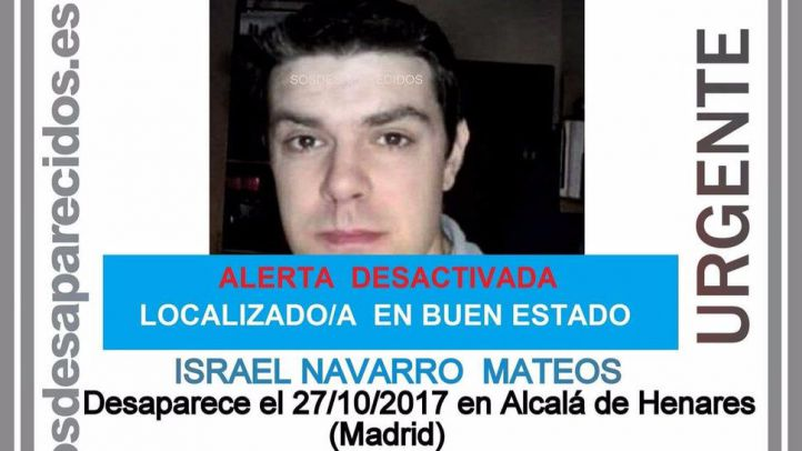 Localizado en buen estado un hombre que desapareció el 27 de octubre